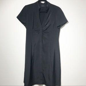 Elie Tahari Little Black Silk Dress Short Sleeve